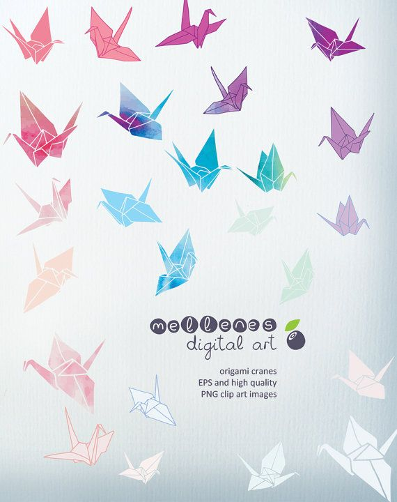 Wedding origami cranes clipart banner transparent download Pin by Amanda Sousa on For Future Reference in 2019 ... banner transparent download
