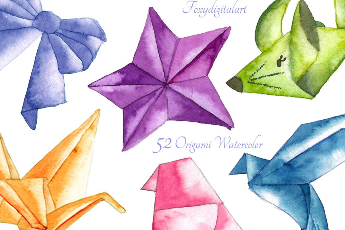 Wedding origami cranes clipart png transparent library Origami Crane Watercolor Clipart png transparent library
