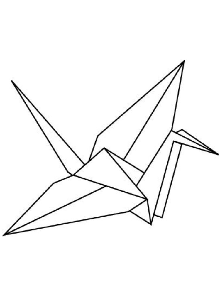 Wedding origami cranes clipart graphic royalty free download Paper Crane #Origami | Wire Art | Bird drawings, Origami ... graphic royalty free download