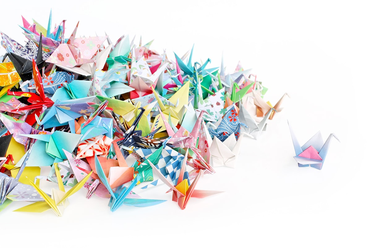 Wedding origami cranes clipart jpg freeuse library Origami Crane - How to Fold a Traditional Paper Crane jpg freeuse library