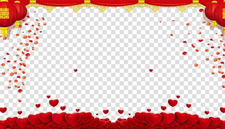 Wedding poster clipart picture stock Heart border illustration, Red Wedding , Wedding poster ... picture stock