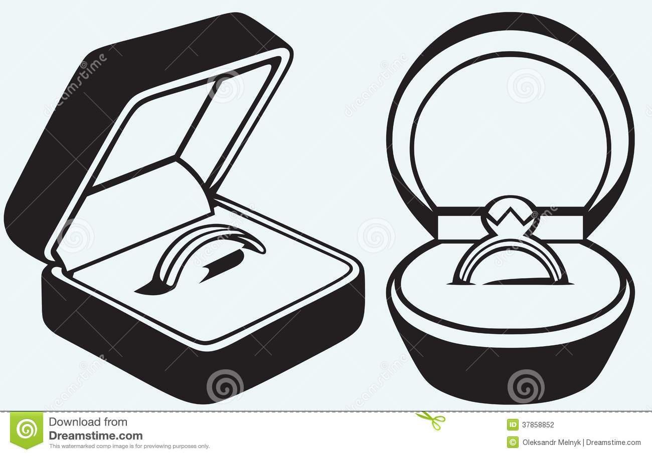 Wedding ring box clipart