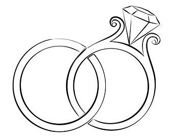 Wedding rings clipart vector picture library wedding ring clipart - Honey & Denim picture library