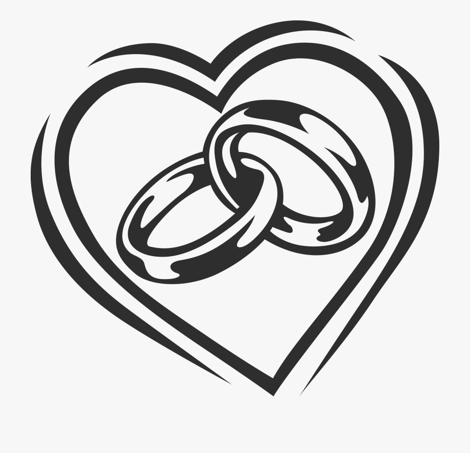 Wedding rings clipart vector