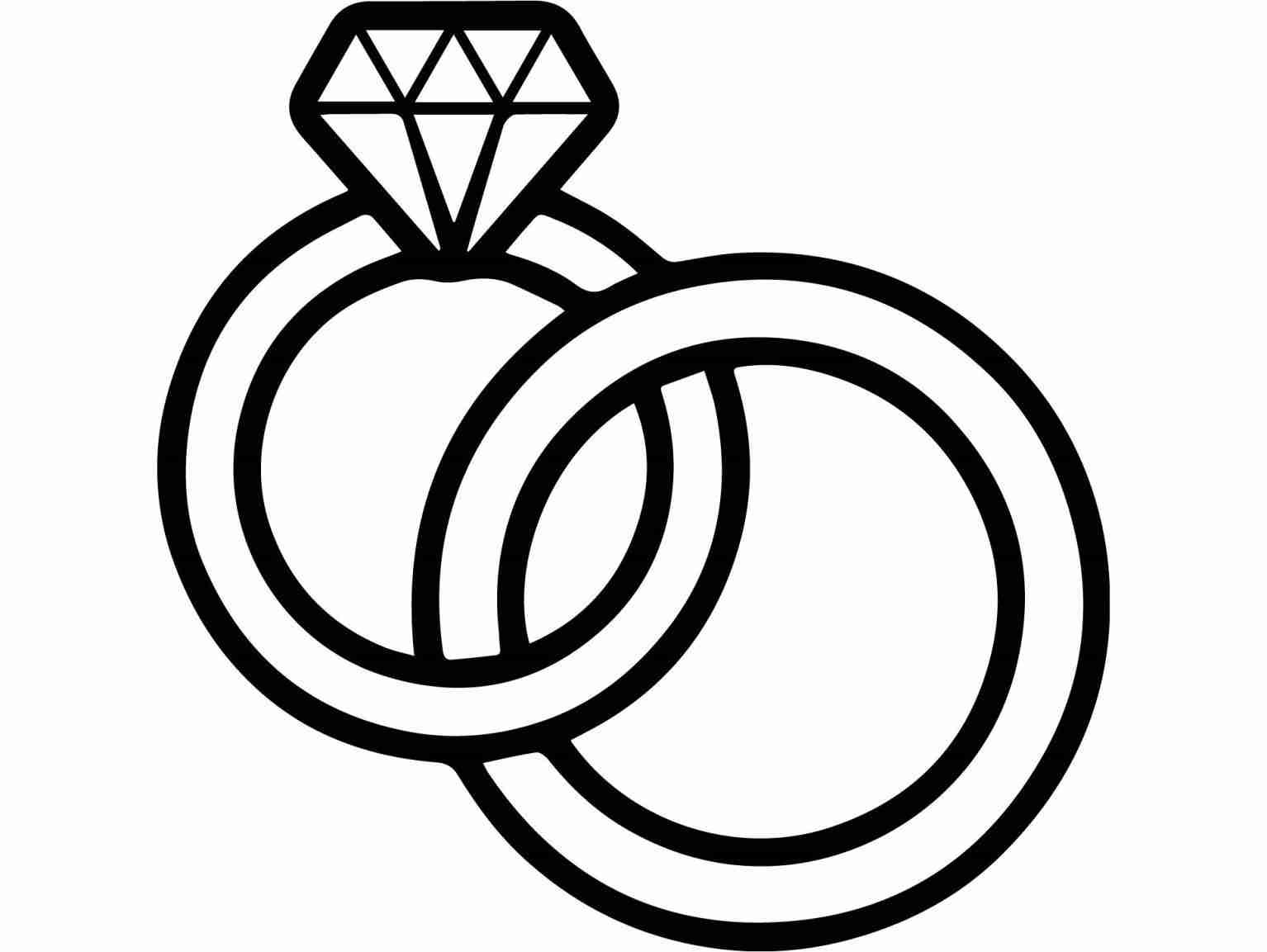 Wedding ring clipart drawings vector freeuse Wedding Ring Drawing at PaintingValley.com | Explore ... vector freeuse