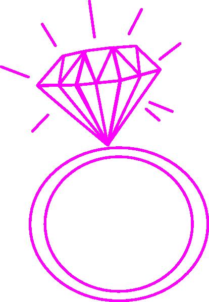 Wedding ring clipart pink graphic royalty free stock Diamond Ring- Fushia Pink Clip Art at Clker.com - vector ... graphic royalty free stock