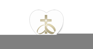 Wedding ring cross clipart vector transparent library Cross And Rings Wedding Clipart | Free Images at Clker.com ... vector transparent library