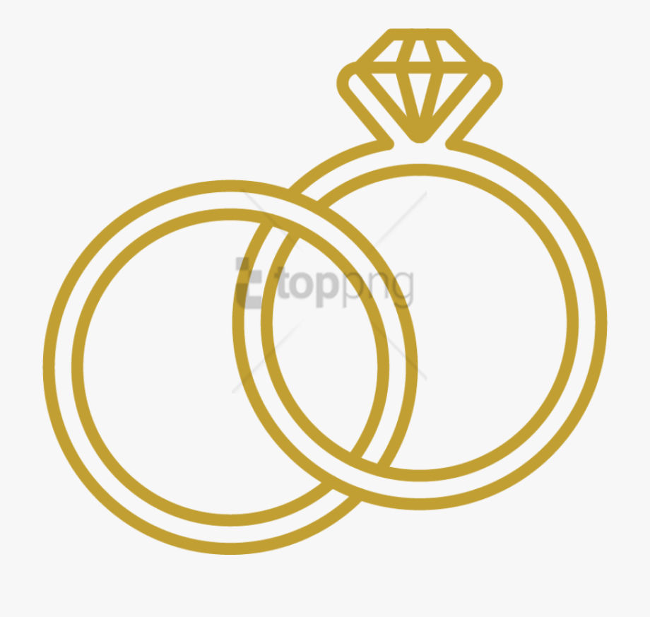 Wedding ring icon clipart svg library download Rings Blue Images - Icon Wedding Rings Png #1404752 - Free ... svg library download