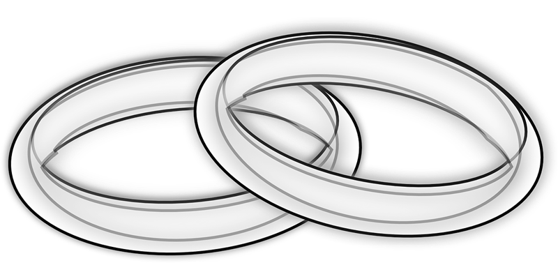 Wedding rings and cross clipart clip black and white 28+ Collection of Wedding Rings Clipart Transparent | High quality ... clip black and white