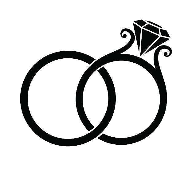 Wedding ring clipart png graphic download Wedding Ring Clip Art Free Black And Whi #132811 - PNG ... graphic download