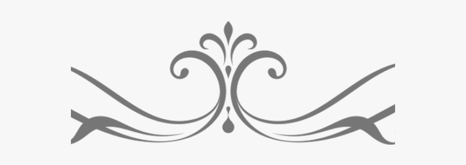 Wedding scroll clipart free picture black and white download Scroll Clipart Simple - Design Wedding Border Png #115184 ... picture black and white download