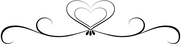 Wedding scroll heart clipart png black and white stock Wedding Scroll   Free download best Wedding Scroll on ... png black and white stock
