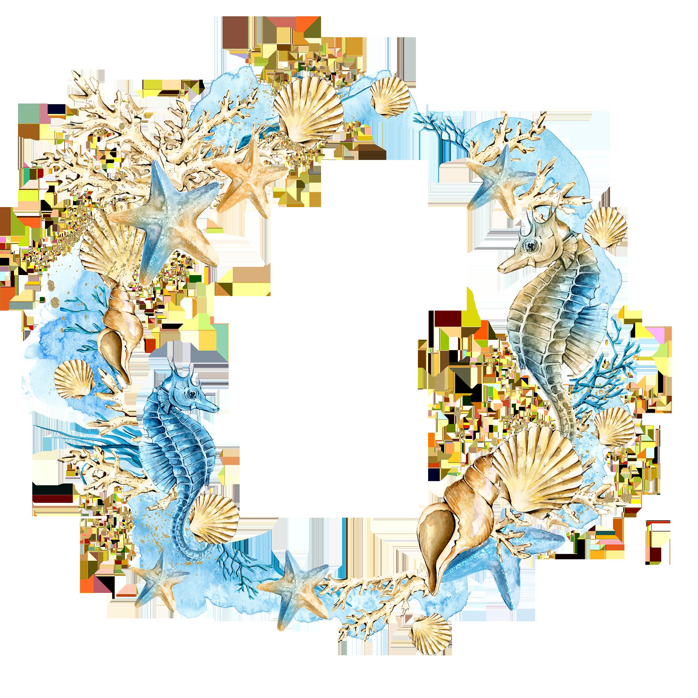 Wedding seashell clipart svg royalty free Download Wreath Starfish Shells Seashell Wedding Watercolor ... svg royalty free