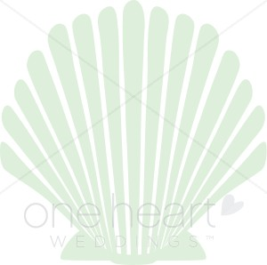 Wedding seashell clipart clip black and white stock Seashell Accent Clipart | Wedding Seasons Images clip black and white stock