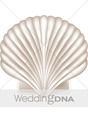 Wedding seashell clipart clipart black and white stock Seashell Clipart | Beach Wedding Clipart clipart black and white stock