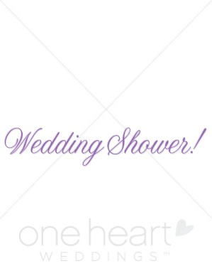 Wedding shower clip art banner black and white Purple Bridal Shower Clipart - Clipart Kid banner black and white