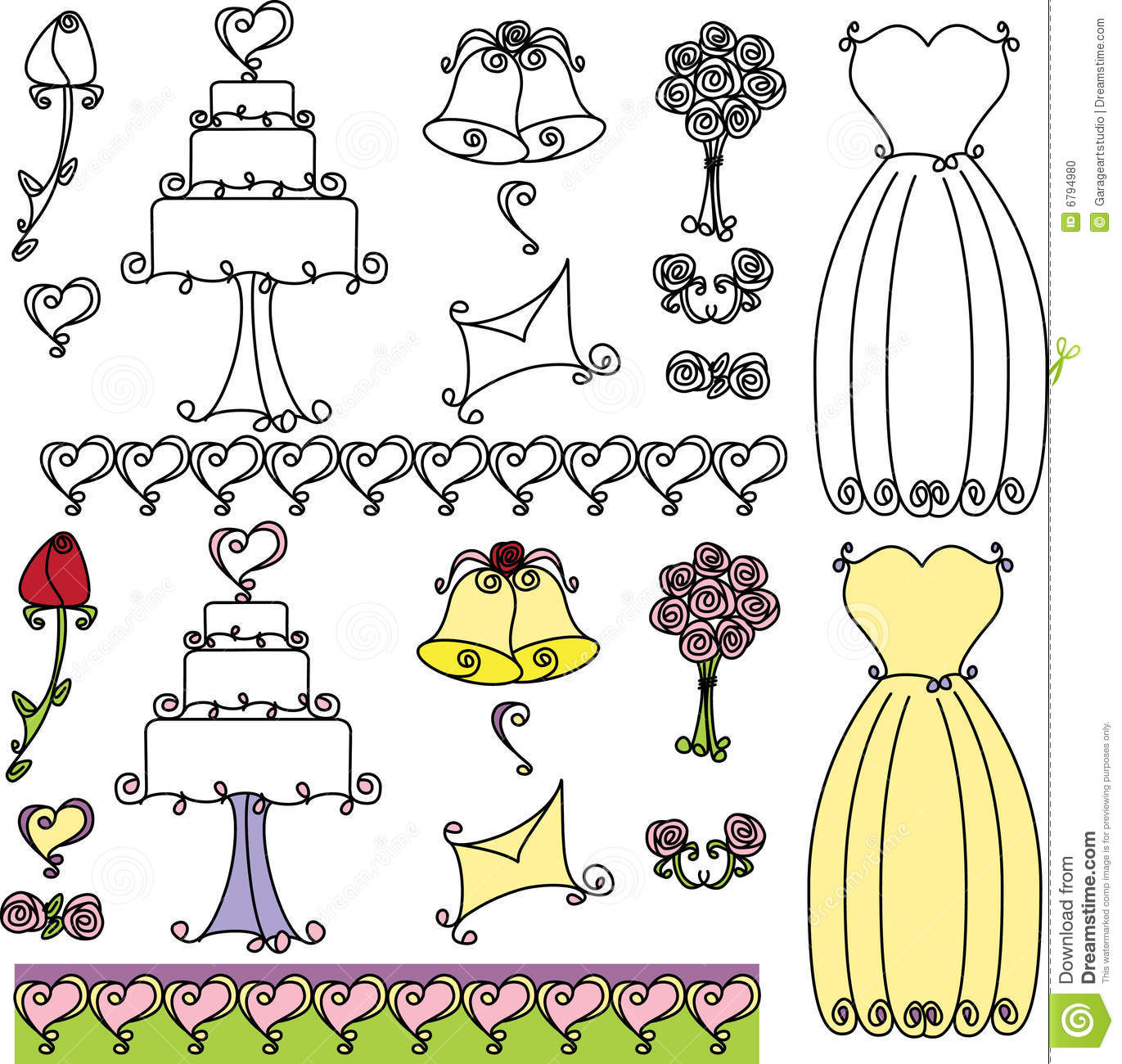 Wedding shower clip art jpg stock Wedding Shower Clip Art Stock Photo - Image: 6794980 jpg stock