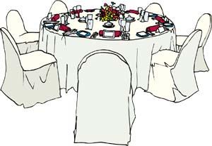 Wedding tables clipart graphic transparent Wedding Table Clipart graphic transparent