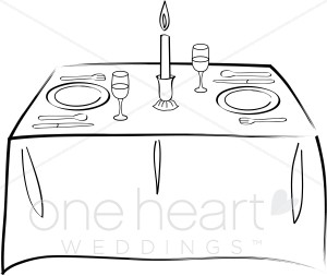 Wedding tables clipart image royalty free download Table for Two Clipart | Wedding Food Clipart image royalty free download