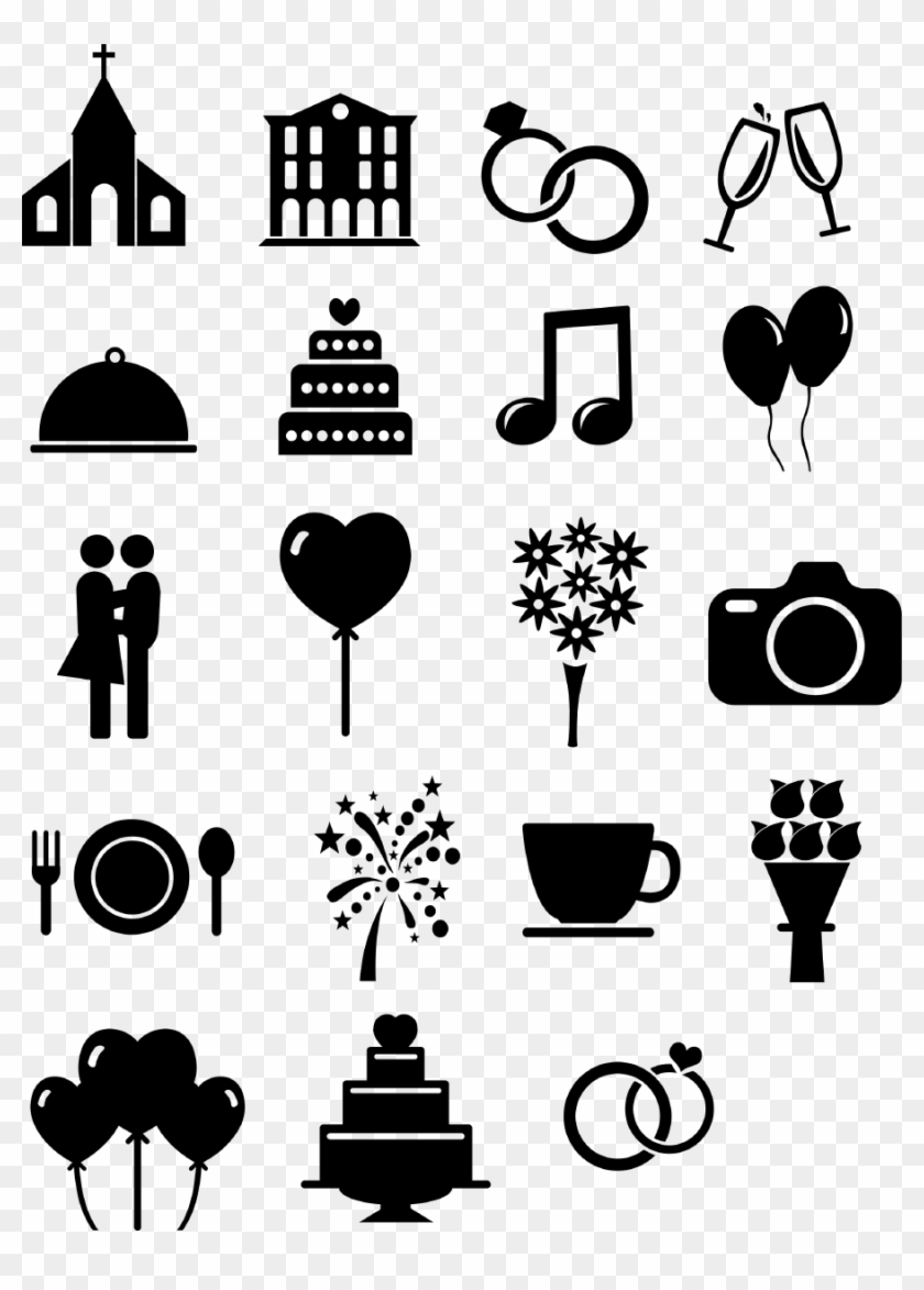 Wedding timeline clipart png free stock Png Royalty Free Stock Ausgef Llte Hochzeits Icons - Icon ... png free stock