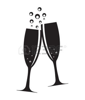 Wedding toast clipart vector png transparent champagne toast: Two Glasses of Champagne Silhouette Vector ... png transparent