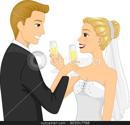 Wedding toast clipart vector clipart transparent stock Wedding Toast stock vector clipart transparent stock