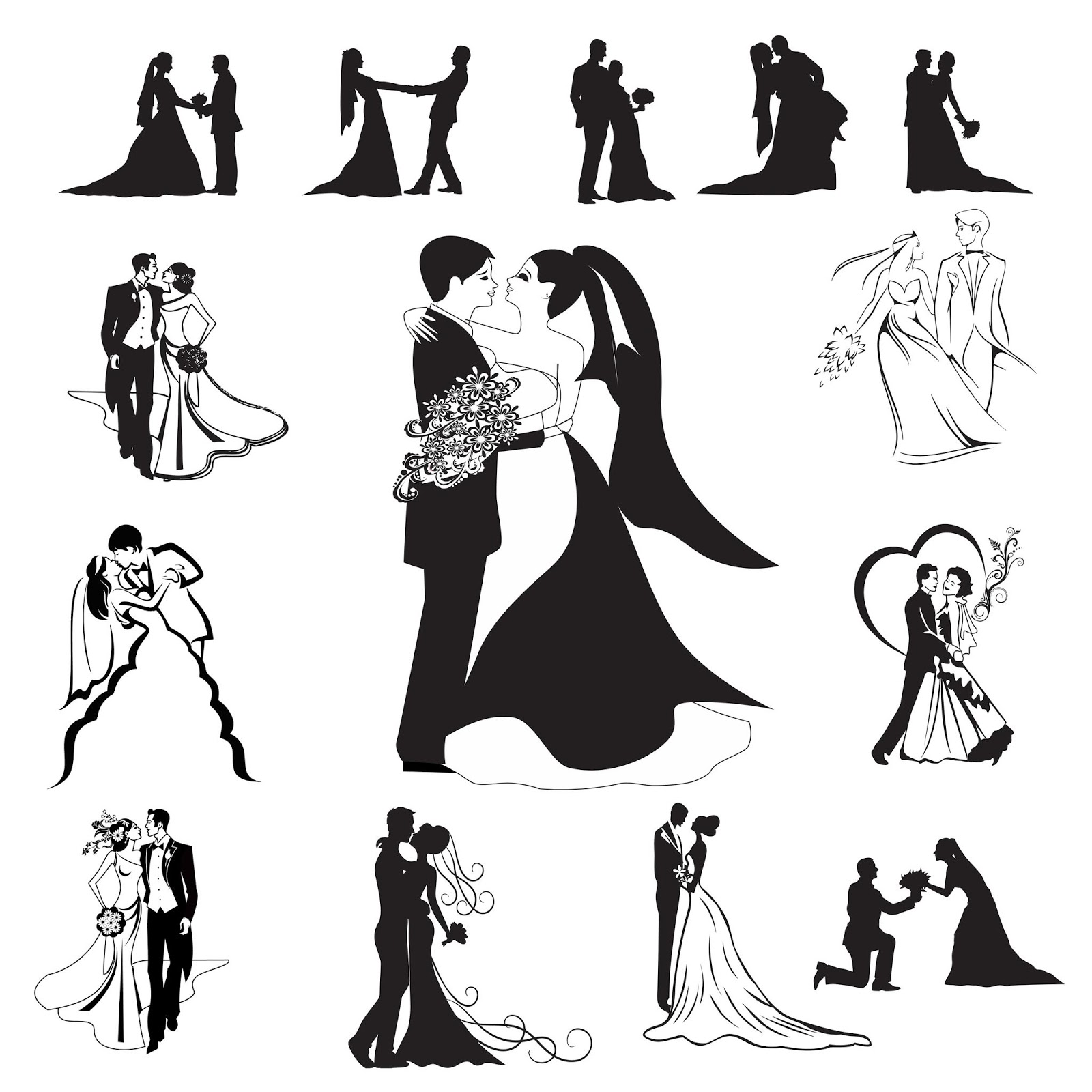 Wedding toast clipart vector picture transparent Bride & Groom collection for khmer wedding invitation card ... picture transparent