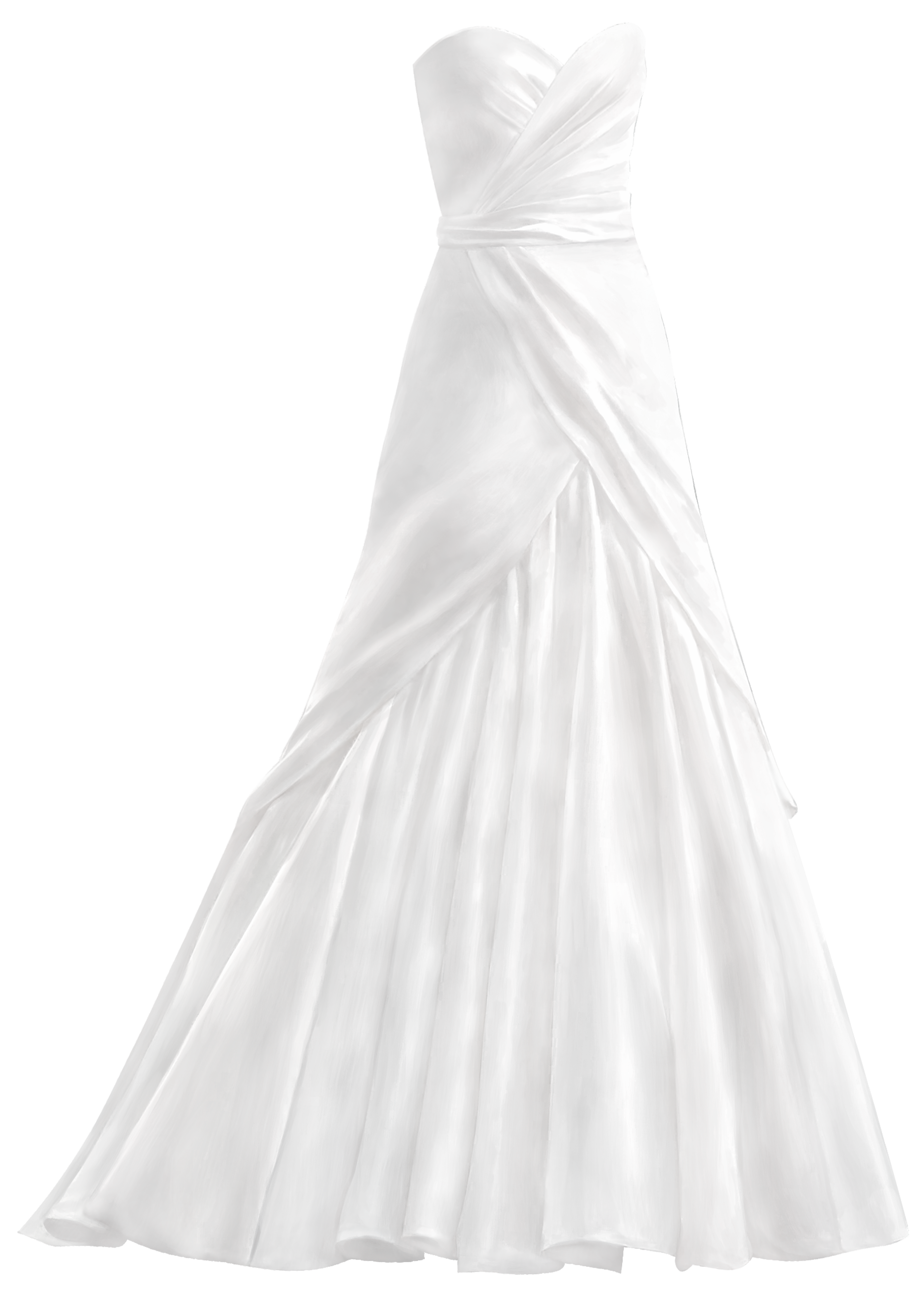 Wedding train clipart png royalty free White Wedding Dress PNG Clip Art - Best WEB Clipart png royalty free