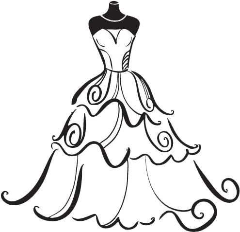 Wedding train clipart vector free library Wedding Gown Drawing | Free download best Wedding Gown ... vector free library