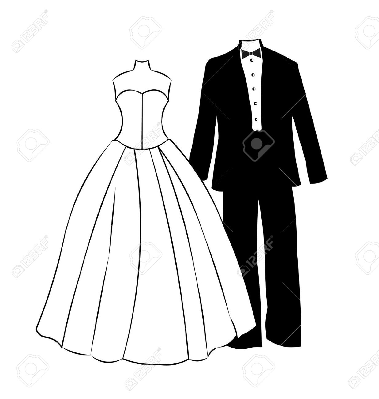 Prom dress images in black and white clipart freeuse download Tuxedo Clipart | Free download best Tuxedo Clipart on ... freeuse download