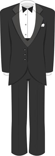 Wedding tuxedo clipart banner black and white download Tuxedo Clip Art | Copyright © 2009 Barn Door Designs ... banner black and white download