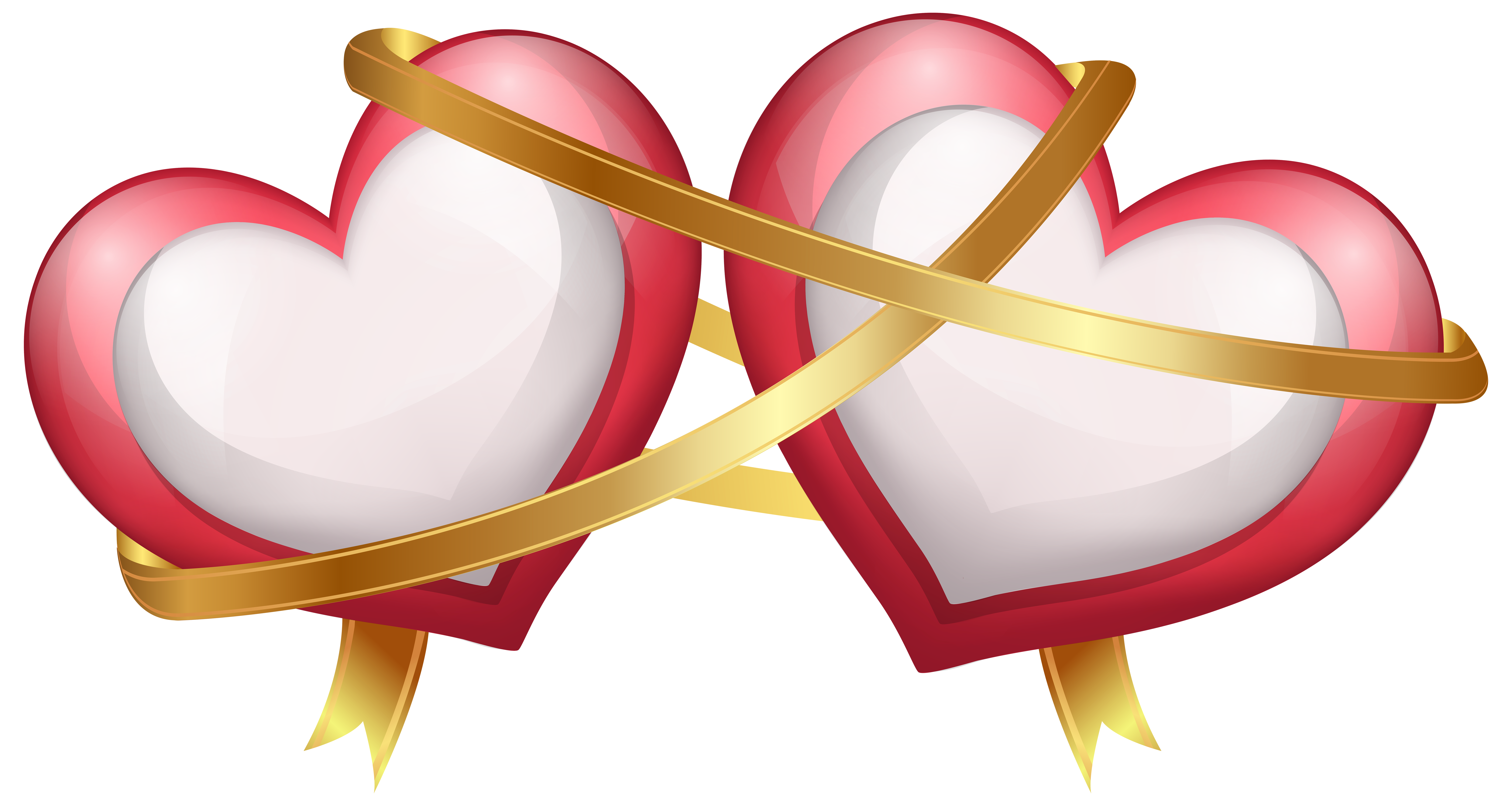 Wedding two heart clipart graphic royalty free stock Wedding invitation Valentine's Day Heart Clip art - Two Hearts with ... graphic royalty free stock