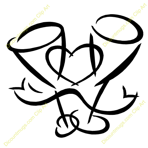 Wedding two heart clipart black and white stock Wedding Heart Clipart - Cliparts and Others Art Inspiration black and white stock