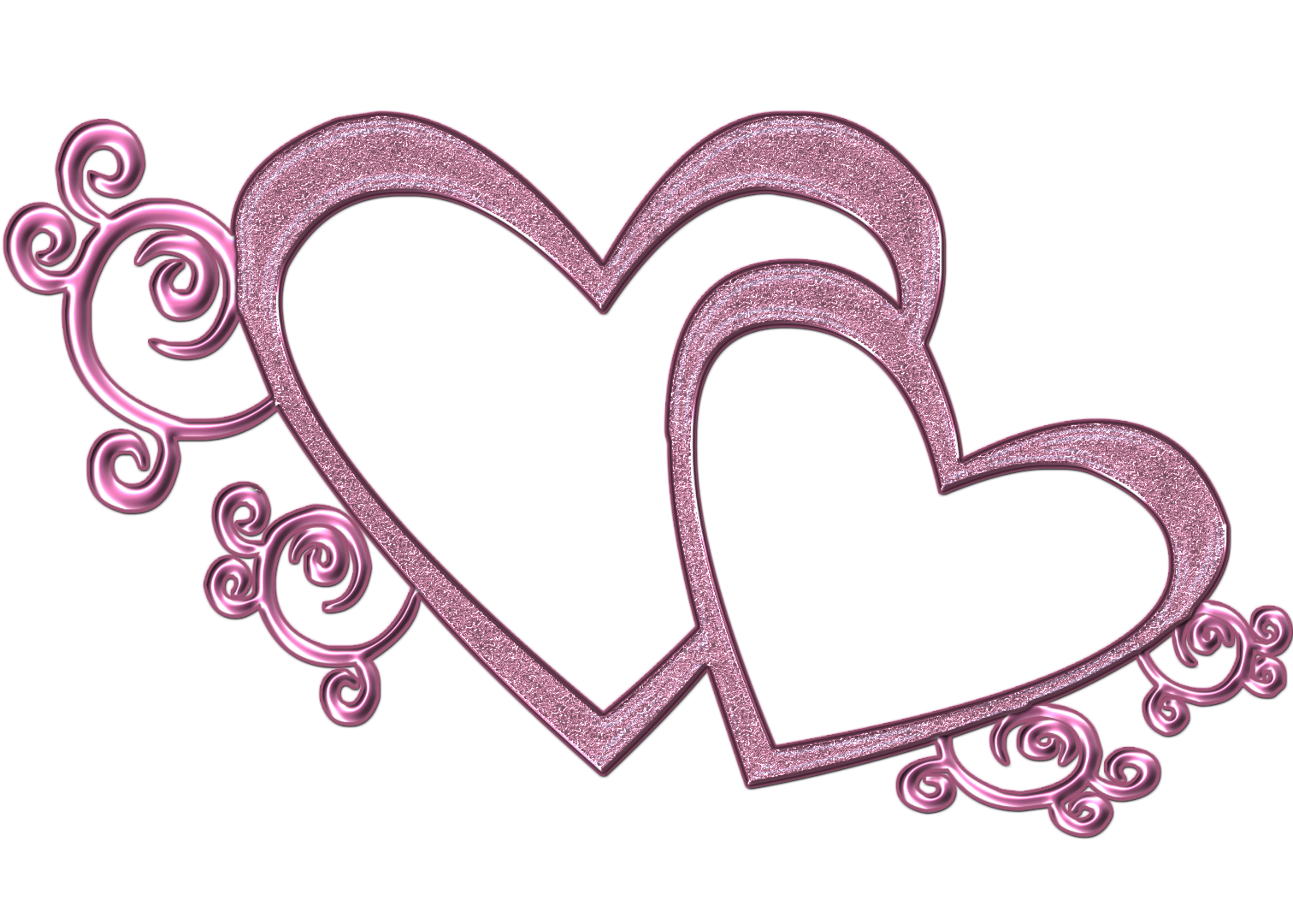Two hearts clipart wedding png black and white Wedding Two Heart Clipart - clipartsgram.com png black and white