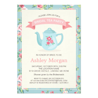 Wedding vintage printables tea clipart png transparent Bridal Shower Tea Party Invitations & Announcements | Zazzle png transparent