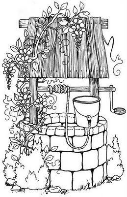 Wedding wishing well clipart vector black and white Wedding wishing well clipart 6 » Clipart Portal vector black and white