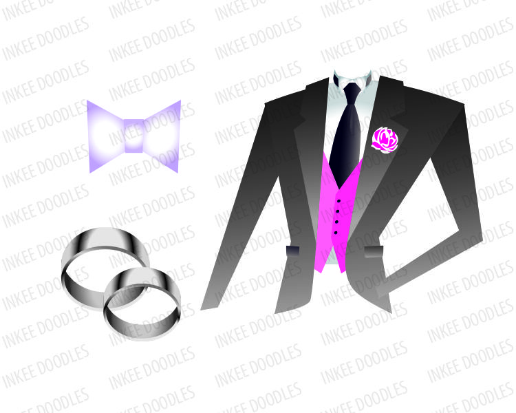 Weddingrins clipart image transparent library Groom\'s Jacket, Wedding Rings, Bow Tie - Wedding Clipart ... image transparent library