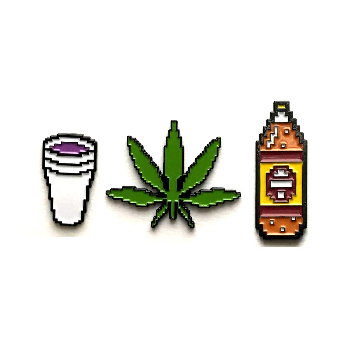 Weed and codeine clipart