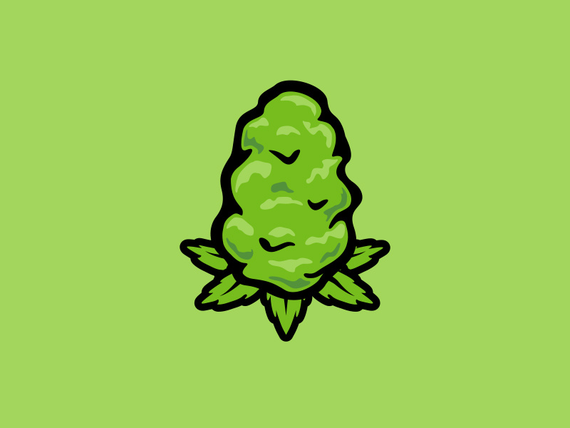 Weed bud clipart graphic transparent Vector nug by LeAnn Jensen on Dribbble graphic transparent