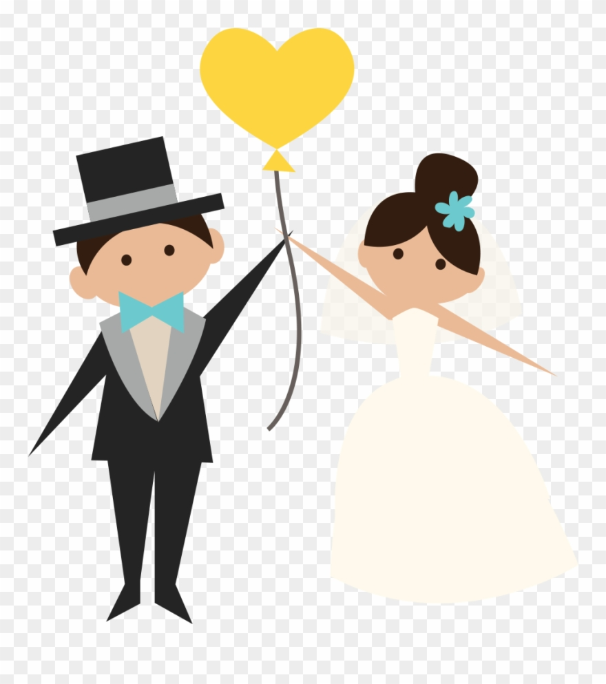Weedding clipart black and white stock Wedding Clipart Transparent - Groom And Bride Png (#1927026 ... black and white stock