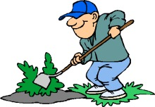 Weeding garden clipart graphic library Gardening Clipart - Graphics of Gardeners and Tools graphic library