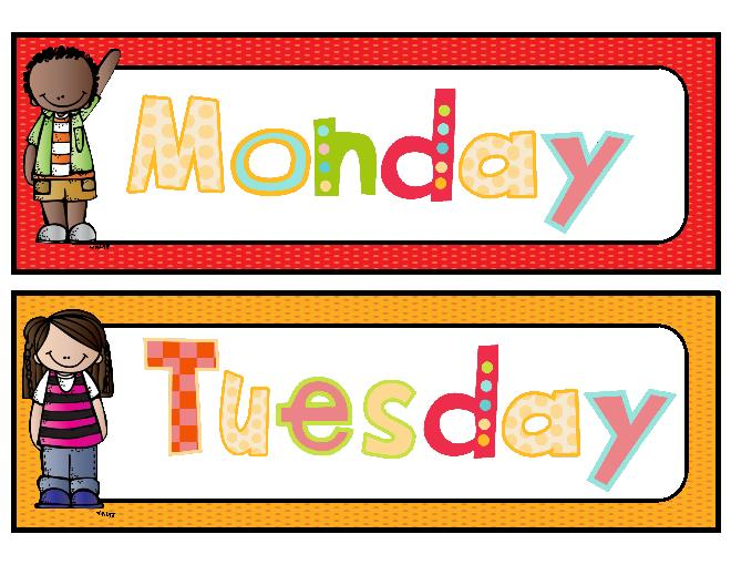 Week month year clipart vector royalty free Days Of The Week Clipart | Free download best Days Of The ... vector royalty free