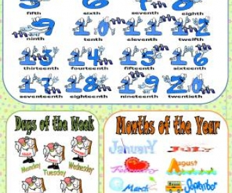 Week month year clipart clip art free download Ordinal Numbers, Days of the Week, Months of the Year clip art free download