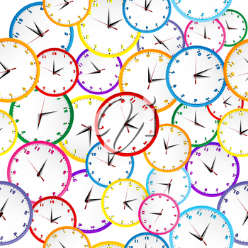 Weekdays clock clipart picture black and white stock Royalty Free Clipart Image of a Clock Background #675933 ... picture black and white stock