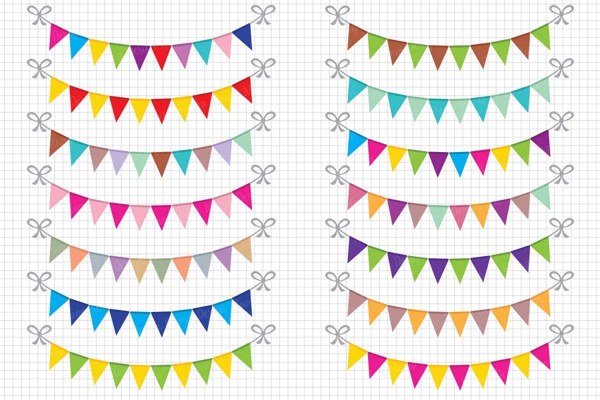 Weekend banner clipart clip art transparent stock Bunting Banners Clipart Party Bunting, Banner Clipart, Banner Flag Clipart,  Party Banners, Holiday Bunting clip art transparent stock