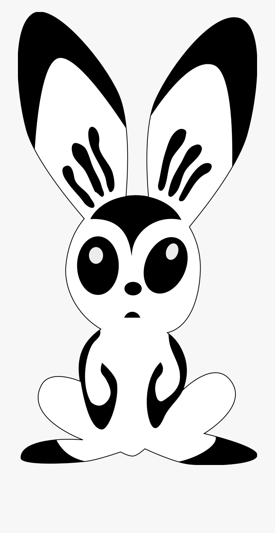 Weekend clipart black and white png royalty free library Clip Art Hare By Rones Rabbit Black White Line - Rabbit ... png royalty free library
