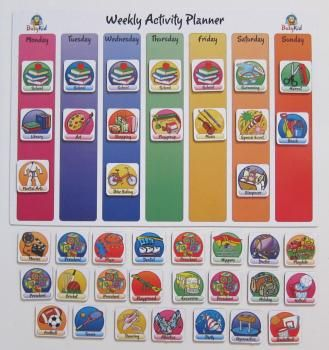 Weekly activities clipart graphic library download Weekly Activity Planner For Kids | Children | Kids planner ... graphic library download