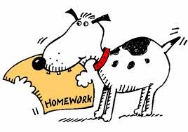 Weekly assignment clipart jpg stock dog eating homework clipart - Homework or no homework ... jpg stock