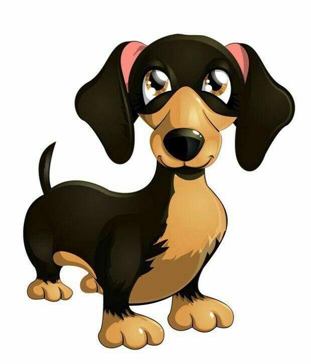 Weenie dog with spots clipart transparent library Cartoon dog   dachshund   Dog clip art, Cute cartoon animals ... transparent library