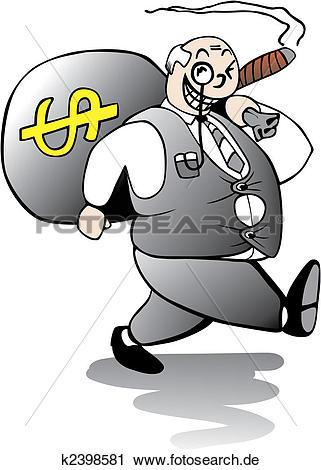 Weg gehen clipart image freeuse Clipart - dicker, bankier, weg gehen, mit, riesig, bonus k2398581 ... image freeuse